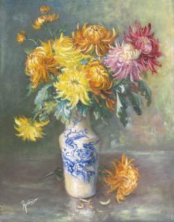Picturi cu flori crizanteme  1A