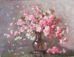 Picturi cu flori flori de piersic