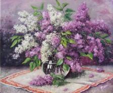 Picturi cu flori Liliac in vas de sticla