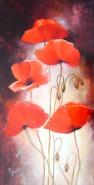 Picturi cu flori Maci b
