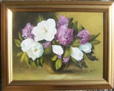 Picturi cu flori Magnolii cu liliac