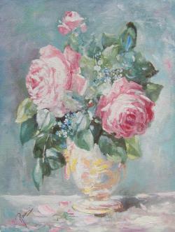 Picturi cu flori trandafiri AB