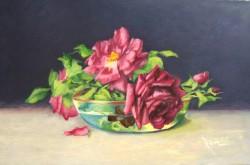 Picturi cu flori Trandafiri rosii a