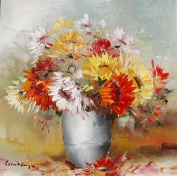 Picturi cu flori Gerbera.