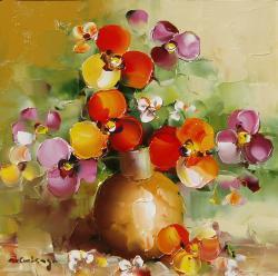 Picturi cu flori Panselute.