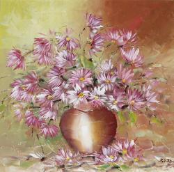 Picturi cu flori Pufusori.