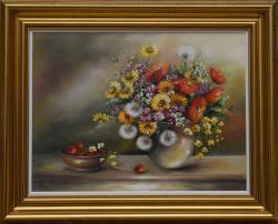 Picturi cu flori Buchet cu papadii