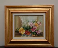 Picturi cu flori buchet trandafiri