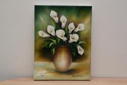 Picturi cu flori Cale in vaza