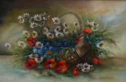 Picturi cu flori cos impletit cu flori