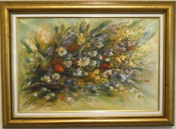 Picturi cu flori Culorile campului