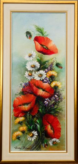 Picturi cu flori Cununa de flori de camp
