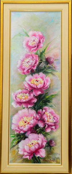 Picturi cu flori ghirlanda de bujori