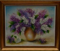 Picturi cu flori liliac mov