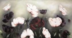 Picturi cu flori Maci albi si negri