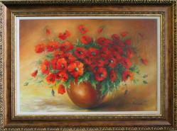 Picturi cu flori Maci rosii