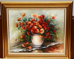 Picturi cu flori Maci rosii salbatici