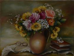 Picturi cu flori Meditatie II