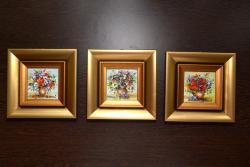 Picturi cu flori Miniaturi cu maci
