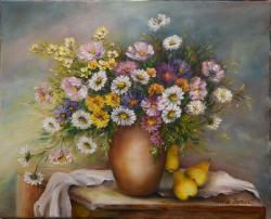 Picturi cu flori Parfum de toamna tarzie
