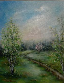 Picturi cu flori peisaj de primavara