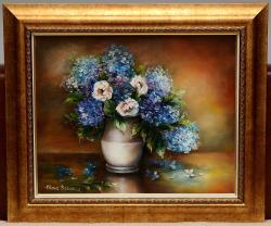 Picturi cu flori Simfonie in albastru