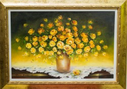 Picturi cu flori Simfonie in galben