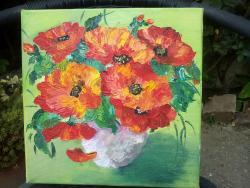 Picturi cu flori MACII MEI 1