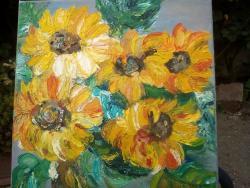 Picturi cu flori Margaretele din lan