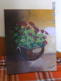 Picturi cu flori Ol cu flori