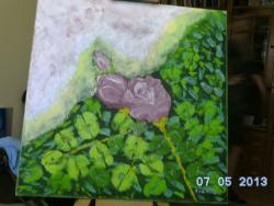 Picturi cu flori Trandafirii roz