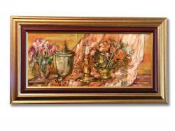 Picturi cu flori Natura cu Flori si Sfesnic