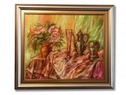 Picturi cu flori Natura statica cu flori-uleipinza