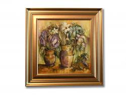 Picturi cu flori Vase cu Garoafe si Narcise