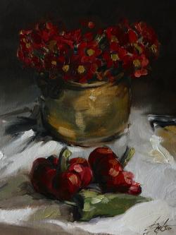 Picturi cu flori alama si flori