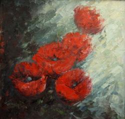 Picturi cu flori rosu de mai