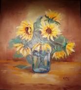 Picturi cu flori Floarea soarelui 7