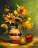 Picturi cu flori Vas cu flori galbene