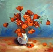 Picturi cu flori Vas cu maci
