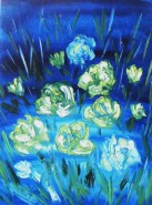 Picturi cu flori Albastru