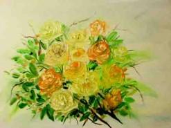 Picturi cu flori Buchet de culoare