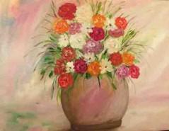Picturi cu flori Butelcuta cu flori