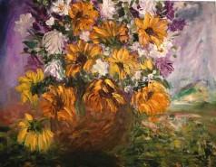 Picturi cu flori Florile soarelui