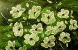 Picturi cu flori Impletire alba