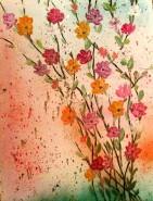 Picturi cu flori In stropi de culoare