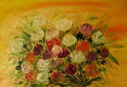 Picturi cu flori Intr-un buchet