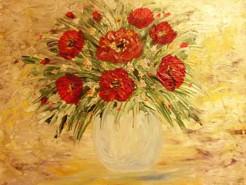 Picturi cu flori Lumina in culori
