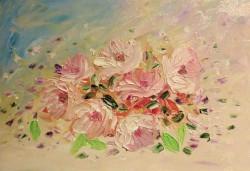 Picturi cu flori Plutire