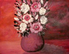 Picturi cu flori Ulcica rosie