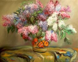 Picturi cu flori Flori de liliac 1